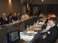 Präsidium mit Projektteilnehmern und USB Freiwilligen